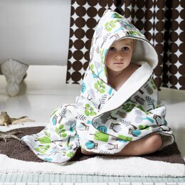 Owls Hooded Towel in Sky