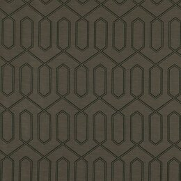Dotted Trellis Fabric - Charcoal