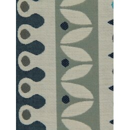 Nordic Stripe Fabric - Turquoise