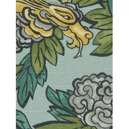 Ming Dragon Fabric - Aquatint