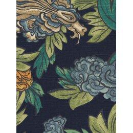 Ming Dragon Fabric - Admiral