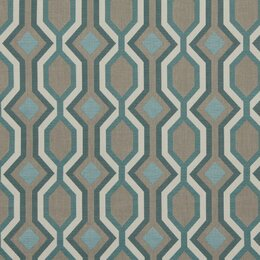 Diamond Vista Fabric - Turquoise