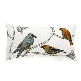 Chinoiserie Long Linen Pillow Cover