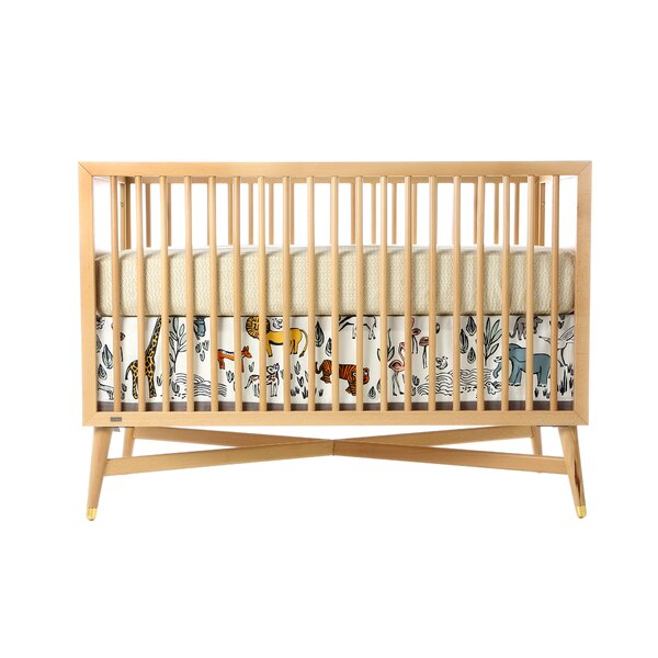 dwellstudio safari canvas crib skirt dwellstudio