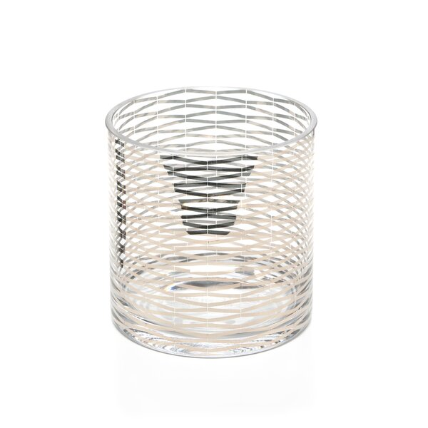 Silver Ribbons Glass Vase
