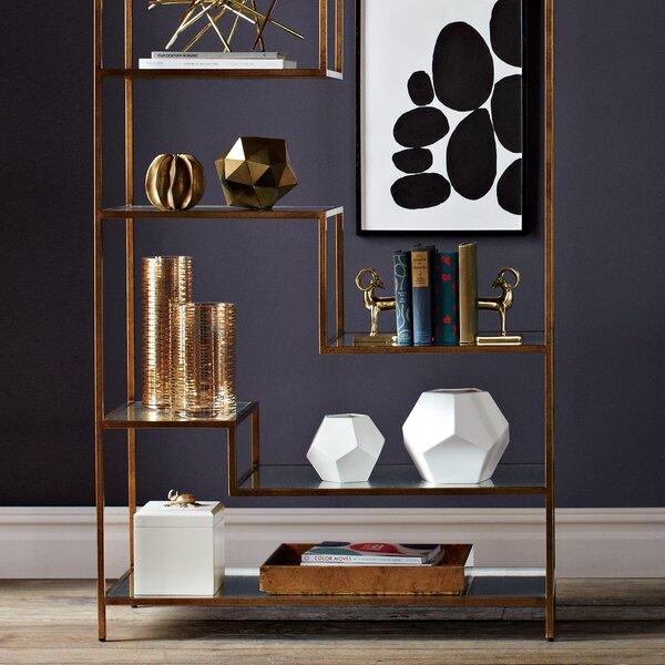 DwellStudio Gold Ribbons Glass Vase