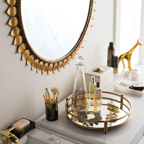 dwellstudio gold leaf mirror dwellstudio