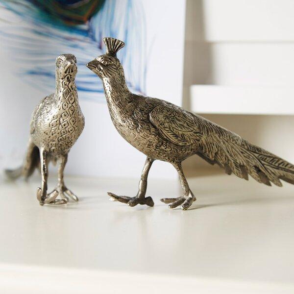 DwellStudio Pair of Metal Peacocks
