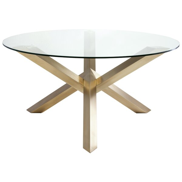 DwellStudio Tamsin Gold Dining Table DwellStudio