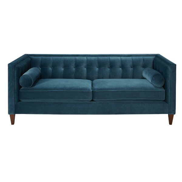 DwellStudio Tufted Sofa in Teal