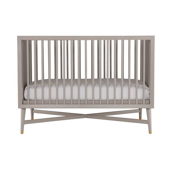 Dwell Studio Mid Century Modern Crib Grey