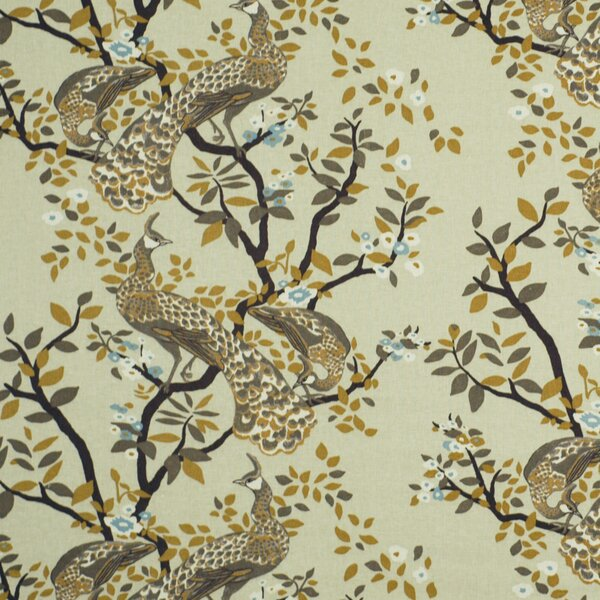 Dwellstudio Vintage Plumes Fabric Birch Dwellstudio