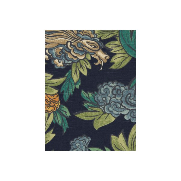 Dwellstudio Ming Dragon Fabric Admiral Dwellstudio