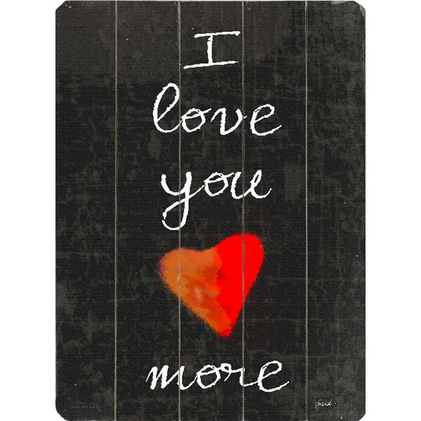 Wall Decor And More: I Love You More Wall Decor