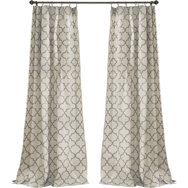 Trellis Rod Pocket Curtain Panel | Joss & Main