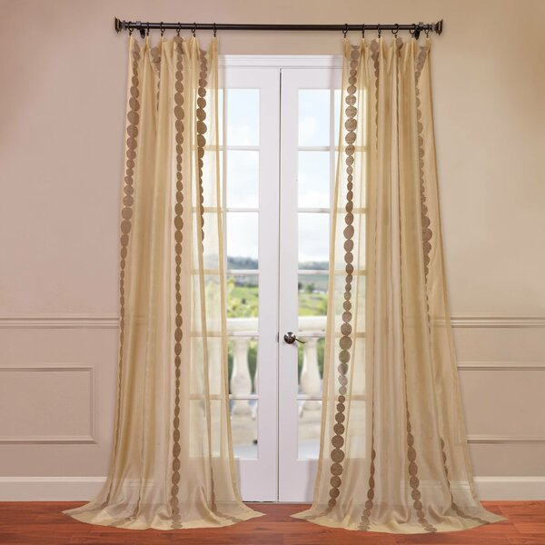 embroidered sheer rod pocket curtain panel joss main