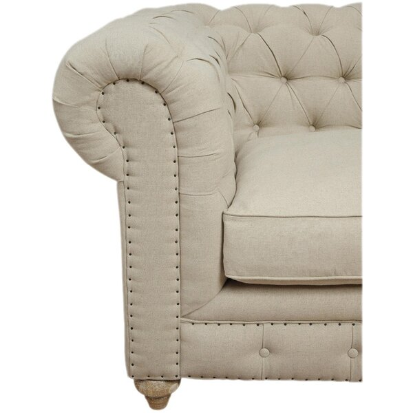 Oliver 120 Chesterfield Right Facing Sectional Sofa In
