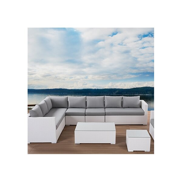 XXL Outdoor 7 Piece Lounge Seating Group with Cushions ...