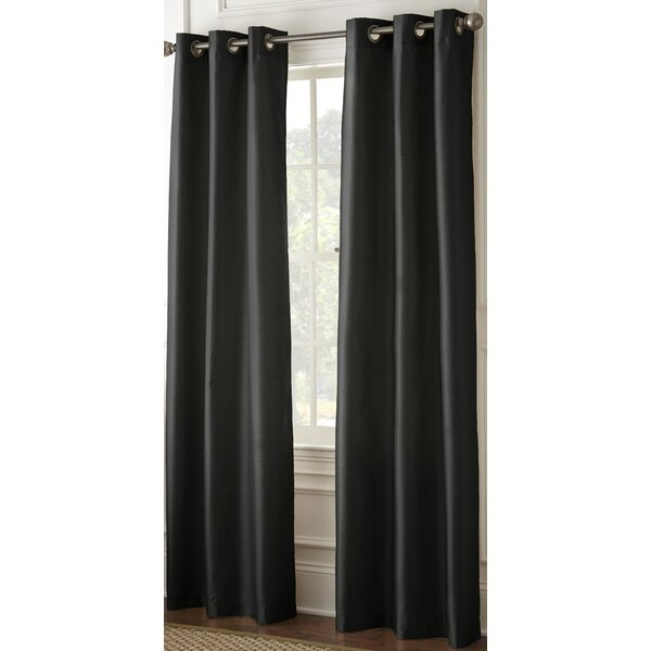 Faux Silk Blackout Grommet Curtain Panel Joss Main