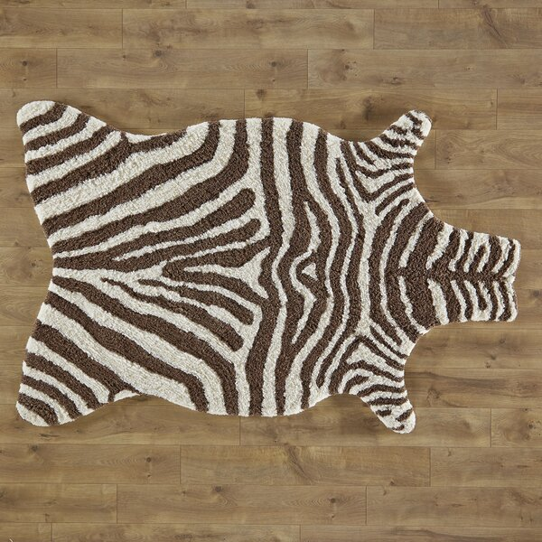 Birch Lane Kids Zebra Stripe Brown Rug Birch Lane