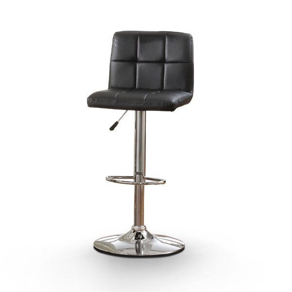 Pure Adjustable Height Swivel Bar Stool With Cushion