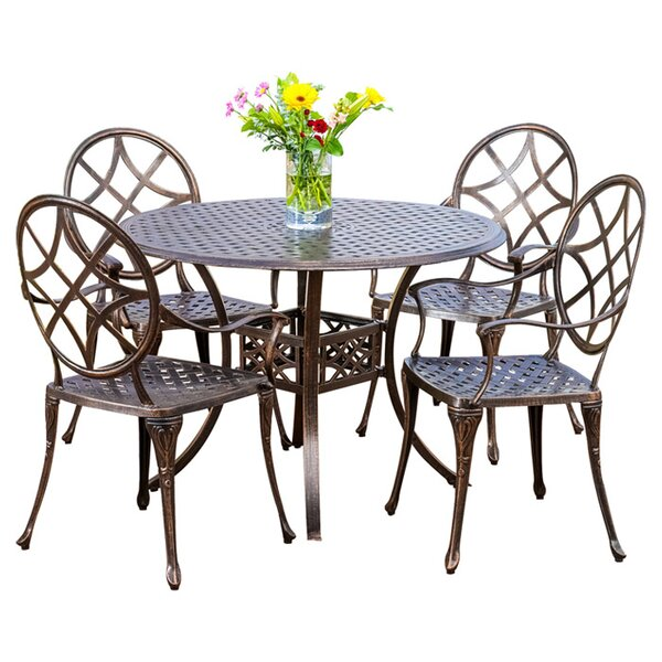 5 Piece Cynthia Patio Dining Set