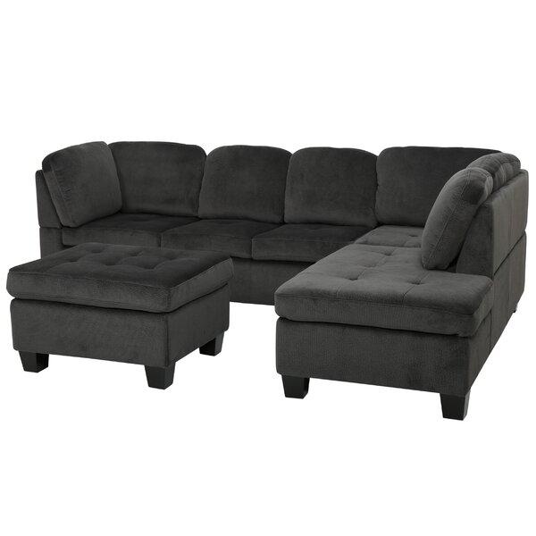 Samson 70quot sectional sofa joss main for Sectional sofa 70