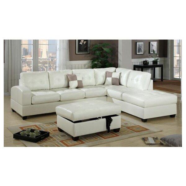 2 piece bobkona sectional sofa reviews joss main for Bobkona atlantic 2 piece sectional sofa