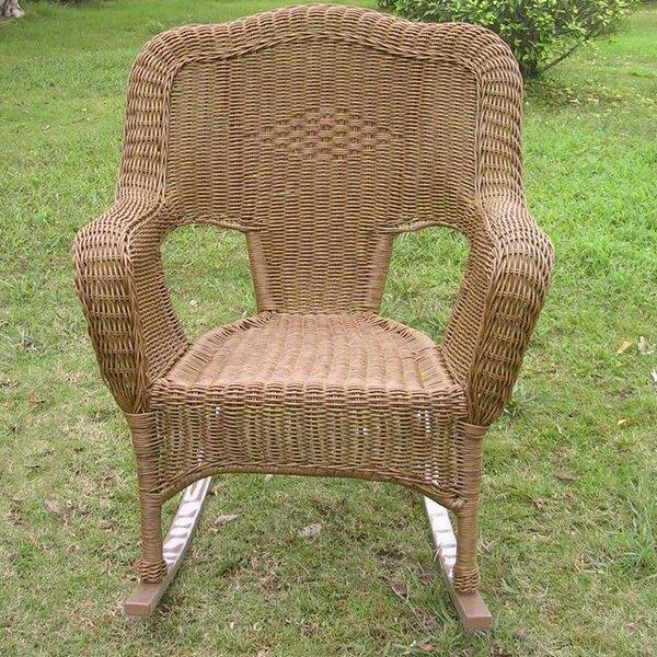 Wyndmoor Wicker Resin Outdoor Rocking Chair  Joss & Main