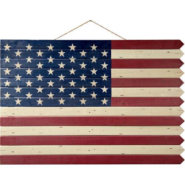 Wood american flag wall decor joss main American flag wood wall art