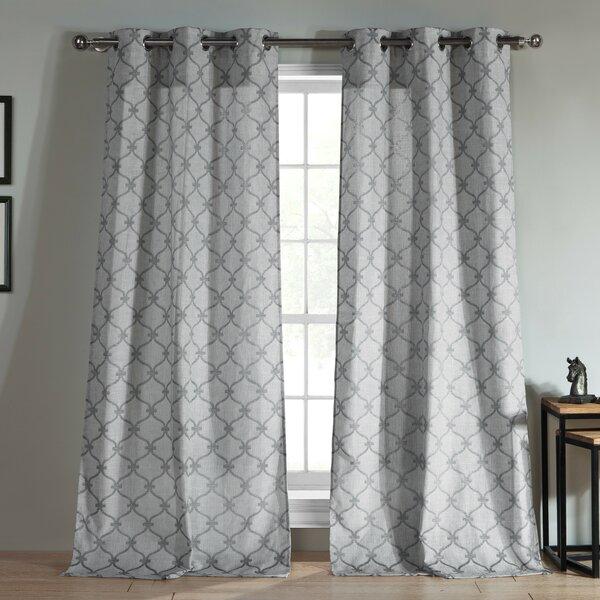 Jacquard Grommet Curtain Panel