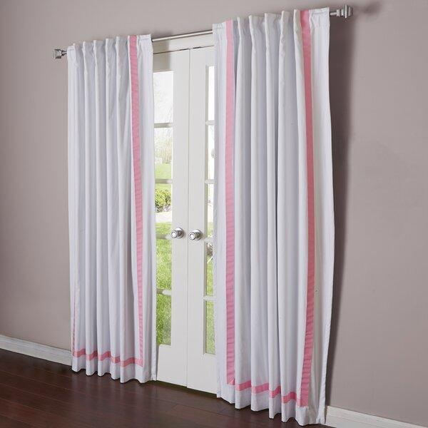 Ribbon Blackout Rod Pocket Curtain Panel
