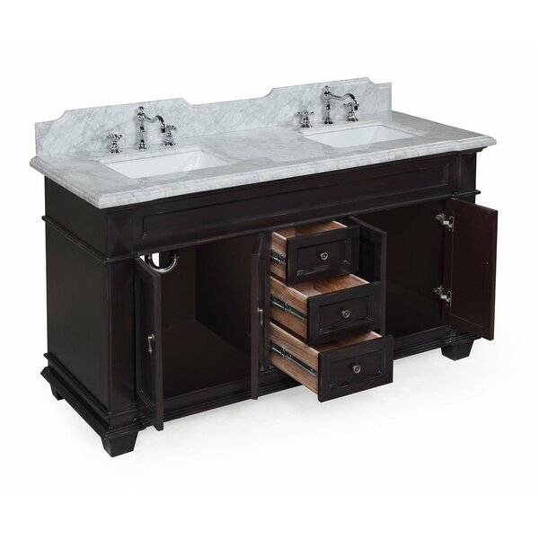 elizabeth 60 quot double bathroom vanity set by kitchen bath