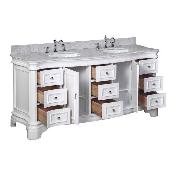 katherine 72 inch bathroom vanity set carrara white joss main