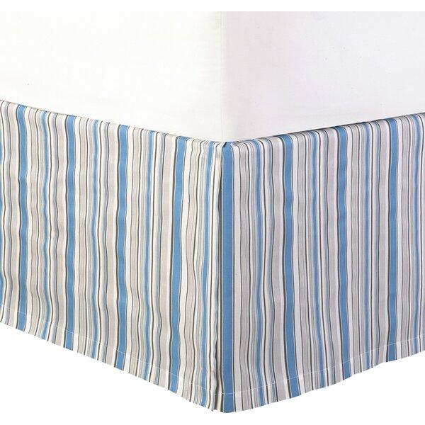 striped bed skirt in blue joss