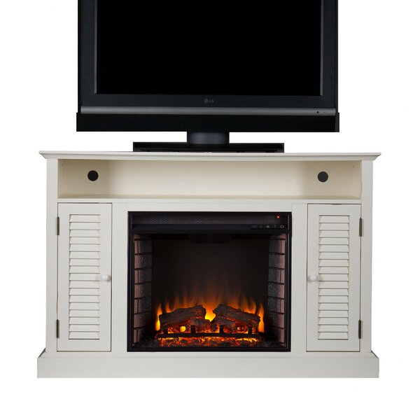 Burlington Media Console Electric Fireplace Joss Main