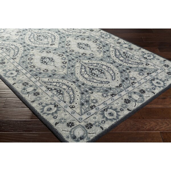 Pottershill Hand-Tufted Light Gray/Teal Area Rug & Reviews