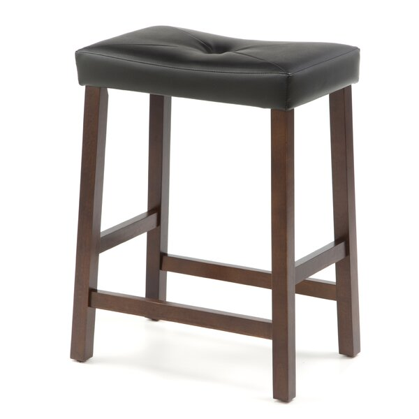 Newark 24quot Upholstered Bar Stool with Cushion Joss amp Main : Upholstered2B2425222BSaddle2BSeat2BBar2BStool2Bin2BVintage2BMahogany2BFinish from www.jossandmain.com size 600 x 600 jpeg 36kB