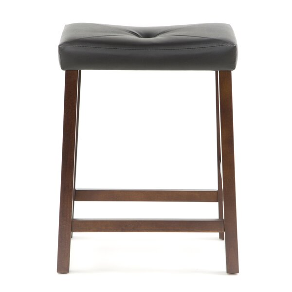 Newark 24quot Upholstered Bar Stool with Cushion Joss amp Main : Upholstered2B2425222BSaddle2BSeat2BBar2BStool2Bin2BVintage2BMahogany2BFinish from www.jossandmain.com size 600 x 600 jpeg 28kB