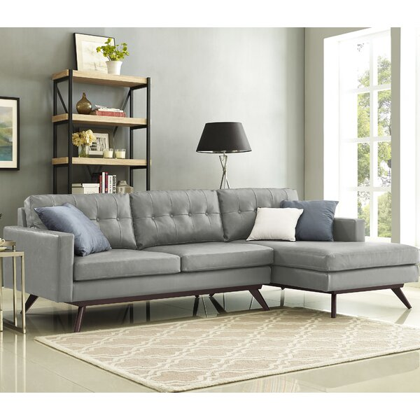 Blake 1035quot tufted sectional sofa joss main for Sectional sofa 103