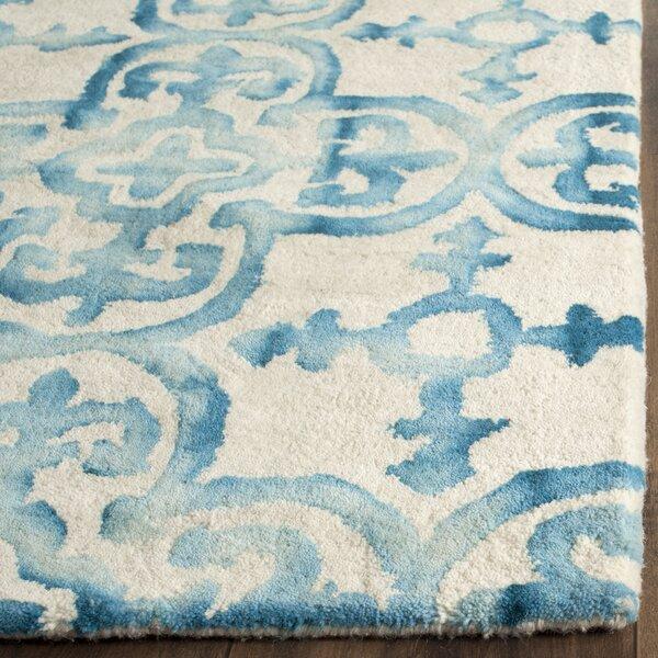 Saleya Turquoise Area Rug: Anya Rug In Ivory & Turquoise