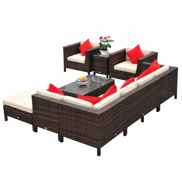 9 Piece Lounge Seating Group With Cushion Joss Amp Main