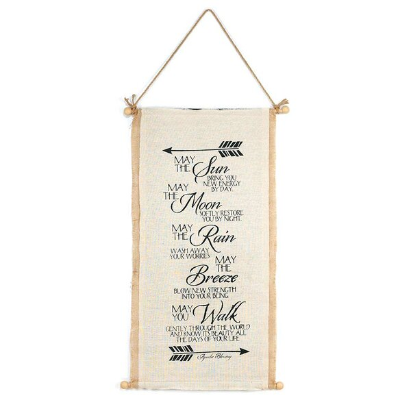 Kitchen Blessing Wall Decor: Apache Blessing Wall Decor