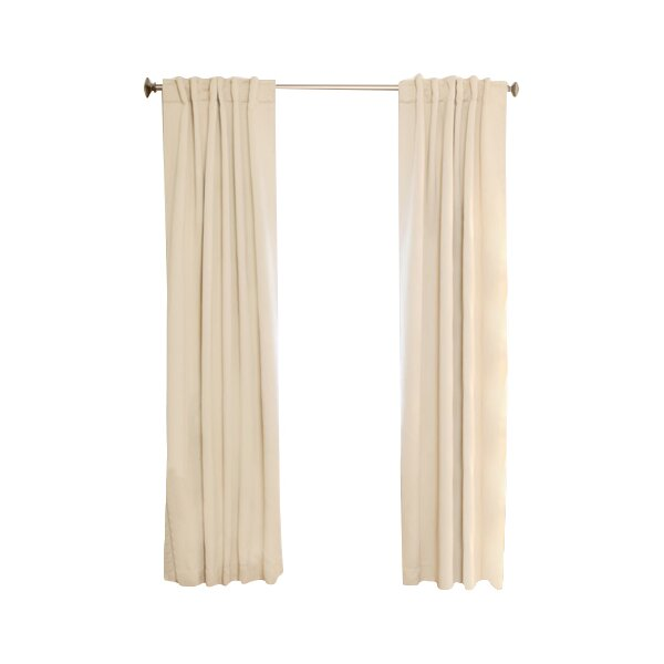 solid blackout rod pocket curtain panel joss main