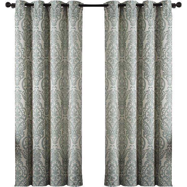 Damask grommet curtain panel joss main for Decoration list mhw