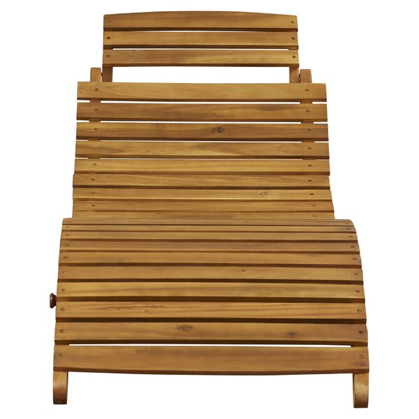 Andie acacia lounger joss main for Acacia wood chaise lounge