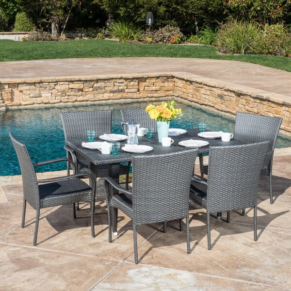 7 piece minerva patio dining set joss main