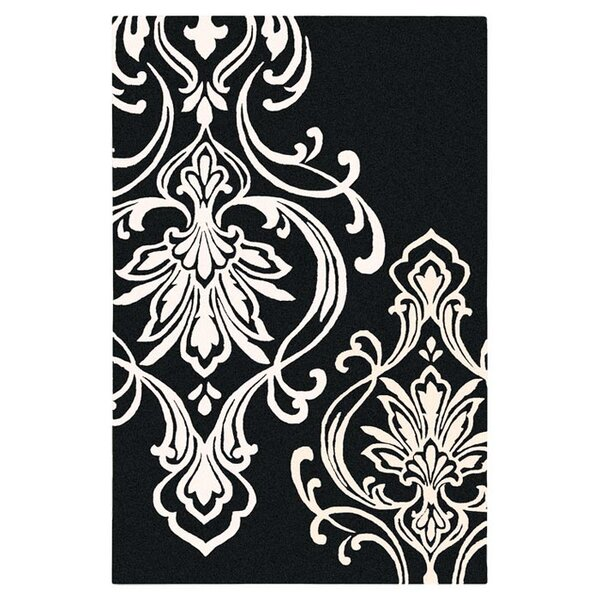 damask rug in black and white joss main