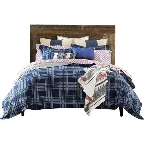 3 Piece Farmhouse Plaid Cotton Comforter Set By Tommy