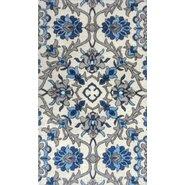 Trella Ivory/Blue Area Rug